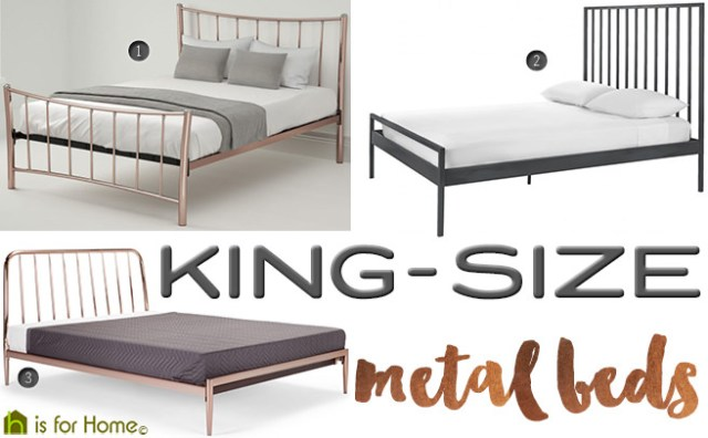 King-size metal beds | H is for Home