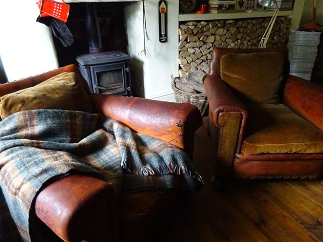 Pair of vintage leather club chairs | H is for Home