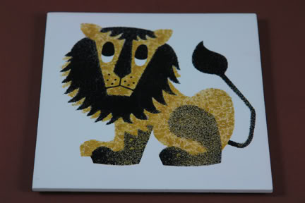 vintage lion ceramic tile by Kenneth Townsend from his Menagerie collection | H is for Home