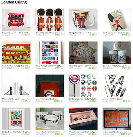 'London Calling!' Etsy List curated by H is for Home