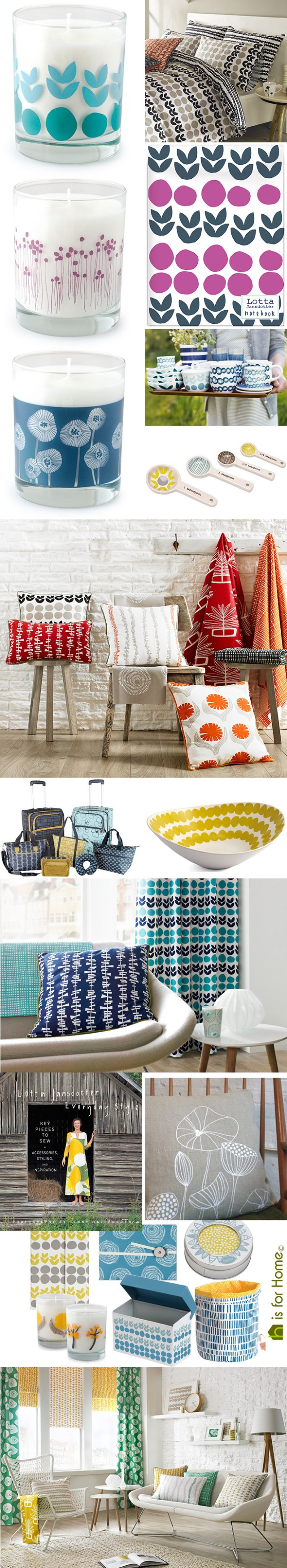 Mosaic of Lotta Jansdotter designs | H is for Home