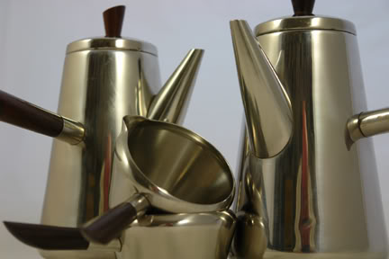 Vintage stainless steel Lundtofte coffee set | H is for Home