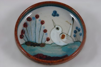 small pottery dish with bird decoration | H is for Home