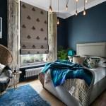 Get their look: Moody blue bedroom