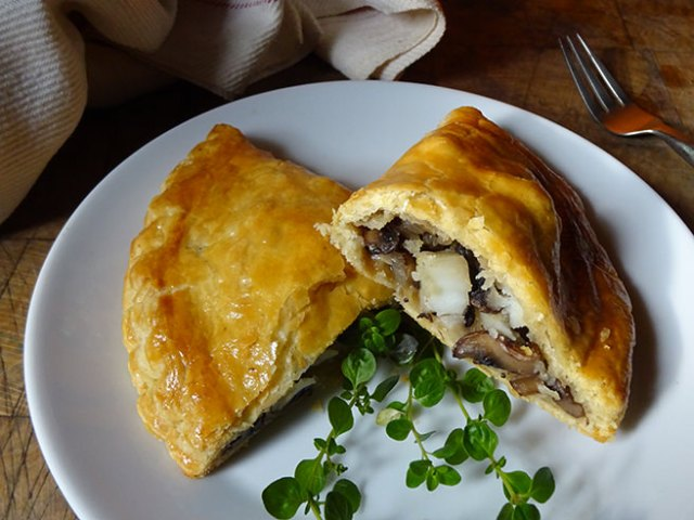 Home-made mushroom pasty made with sourdough pastry | H is for Home