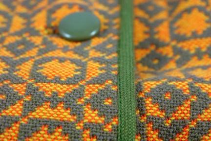 Welsh wool coat detail