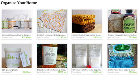 'Organise your home' Etsy List curated by H is for Home