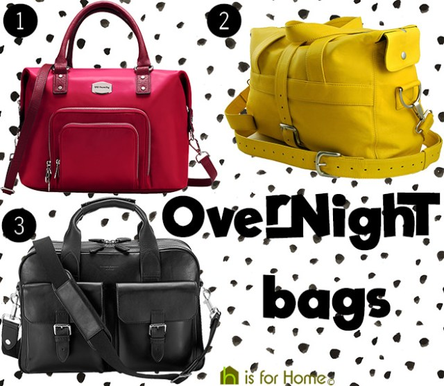 Selection of overnight bags | H is for Home