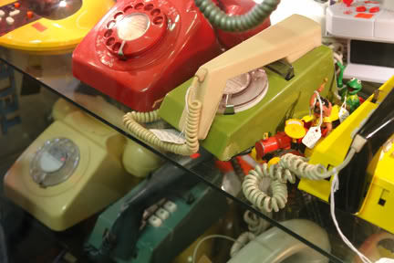 Vintage telephones on sale in Affleck's Palace