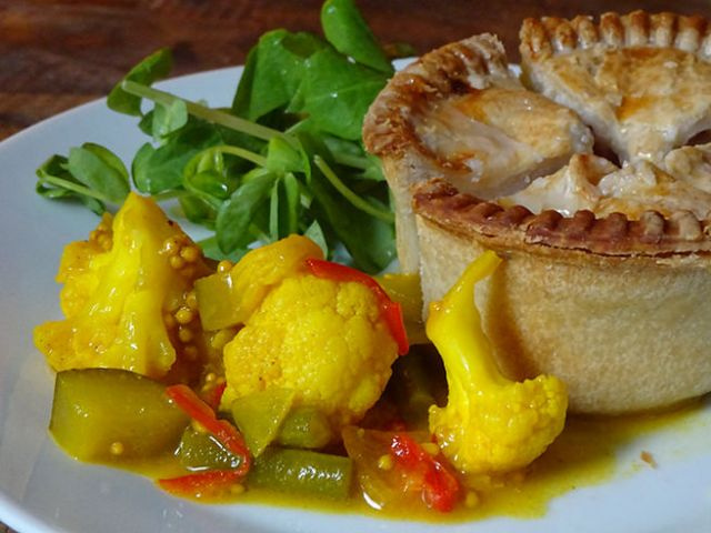 Home-made piccalilli with pork pie and watercress | H is for Home