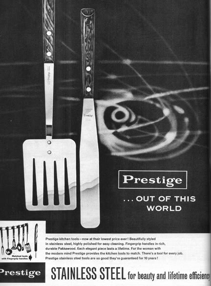 vintage Prestige utensils magazine advertisement | H is for Home