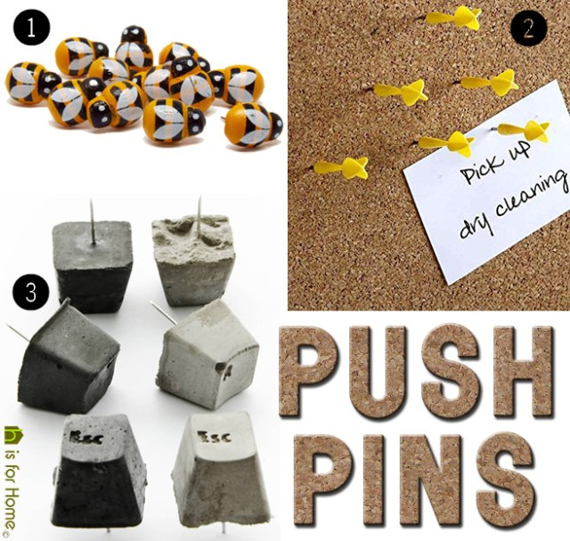 Sets of push pins | H is for Home