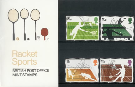 vintage Royal Mail Racket Sports presentation pack