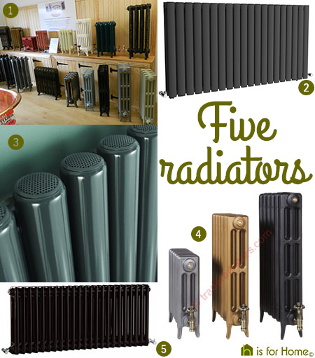 Selection of 5 radiators