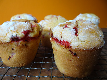 Redcurrant muffins