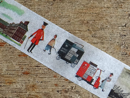 Detail from a strip of Miroslav Sasek washi tape