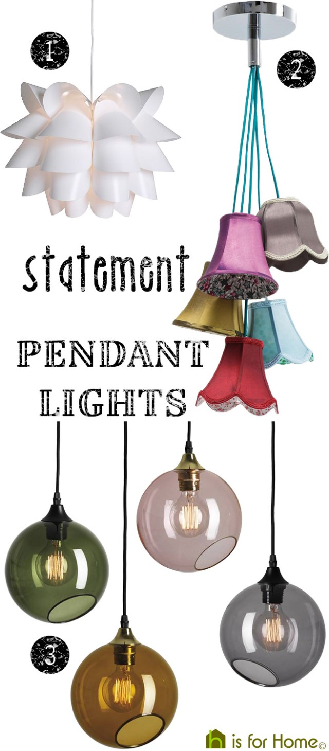 Three statement pendant lights | H is for Home
