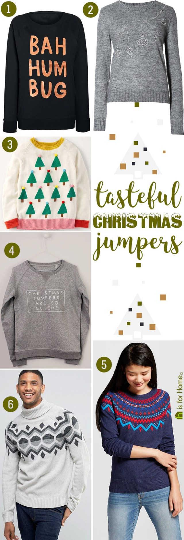Tasteful Christmas jumpers | H is for Home
