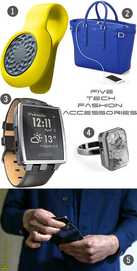 Selection of five tech fashion accessiories