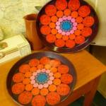 Charity Vintage: Worcester Ware tin trays