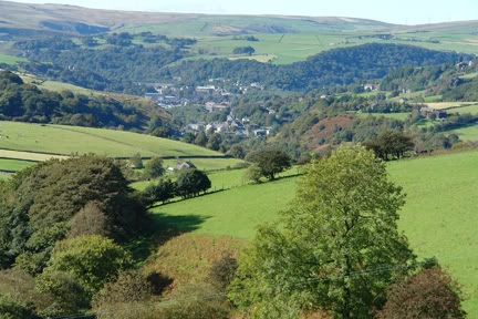 view overlooking Todmorden