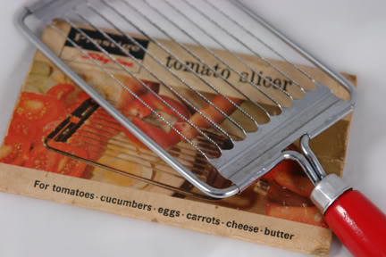 vintage Prestige tomato slicer | H is for Home