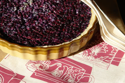 Bilberry flan with Skinny la Minx tea towel | H is for Home