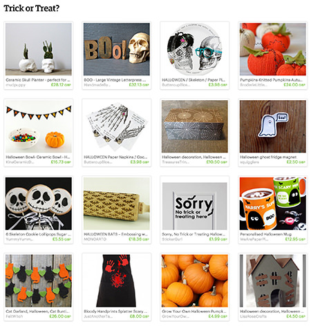 Trick or Treat' Etsy List curated by H is for Home