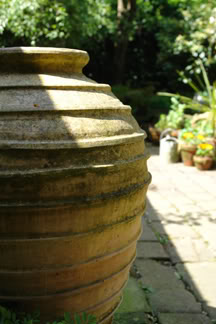 large pottery urn | H is for Home