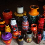 West German vase collection