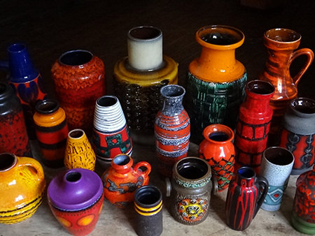 Vintage West German vase collection | H is for Home