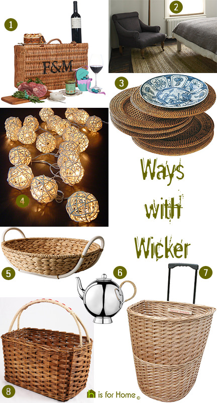 'Ways with Wicker' mood board curated by H is for Home