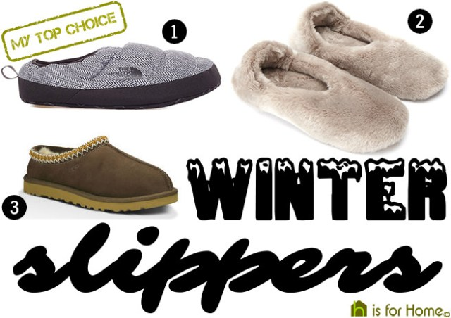 Selection of winter slippers