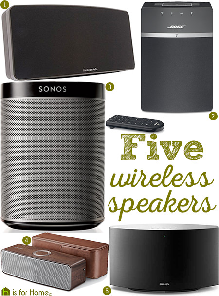 Selection of five wireless speakers