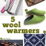 Gimme Five! Wool warmers