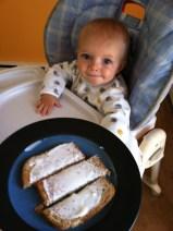 BLW: yogurt on toast