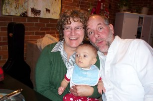 Honey and Pop-pop with baby Theo. 2011.