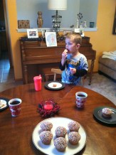My little taste-tester.