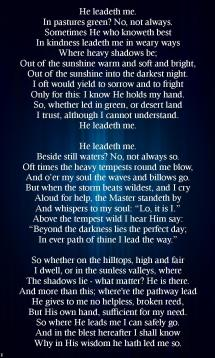 He Leadeth Me - Year of Clean Water