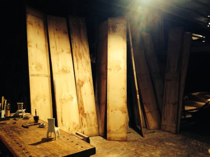 Raw material: Mammoth pine planks
