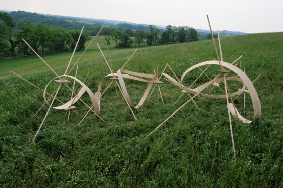 First Law of Sculptural Dynamics, 2008 installation. Photo: Ron Juilette.