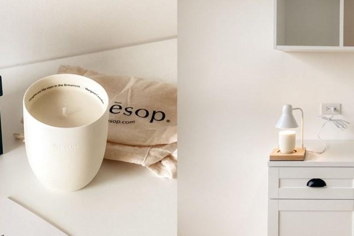 家中療癒的小角落|開箱 Aesop芳香蠟燭與韓國Memory Lane燭燈。