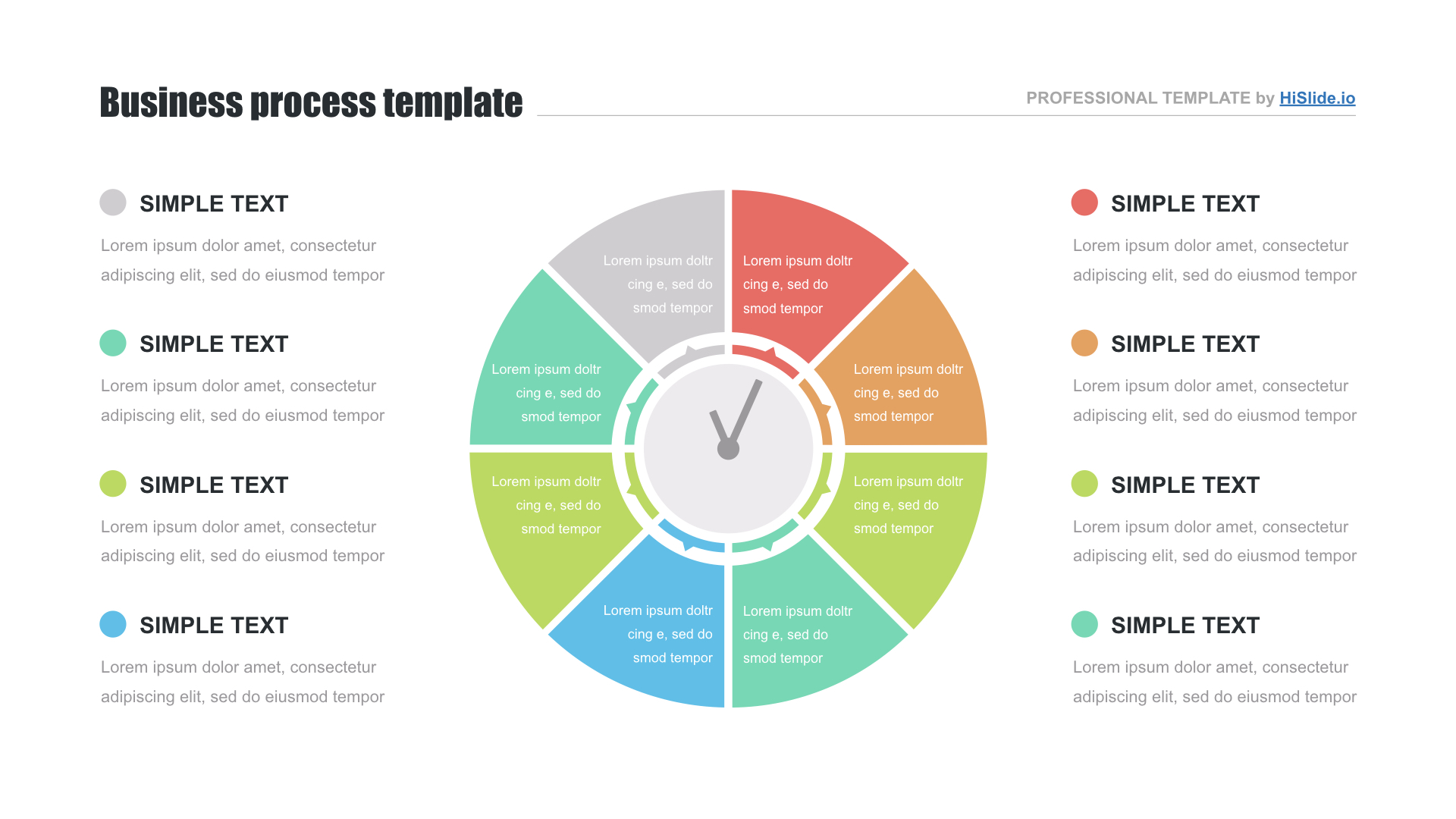 hight resolution of circle diagram free powerpoint template