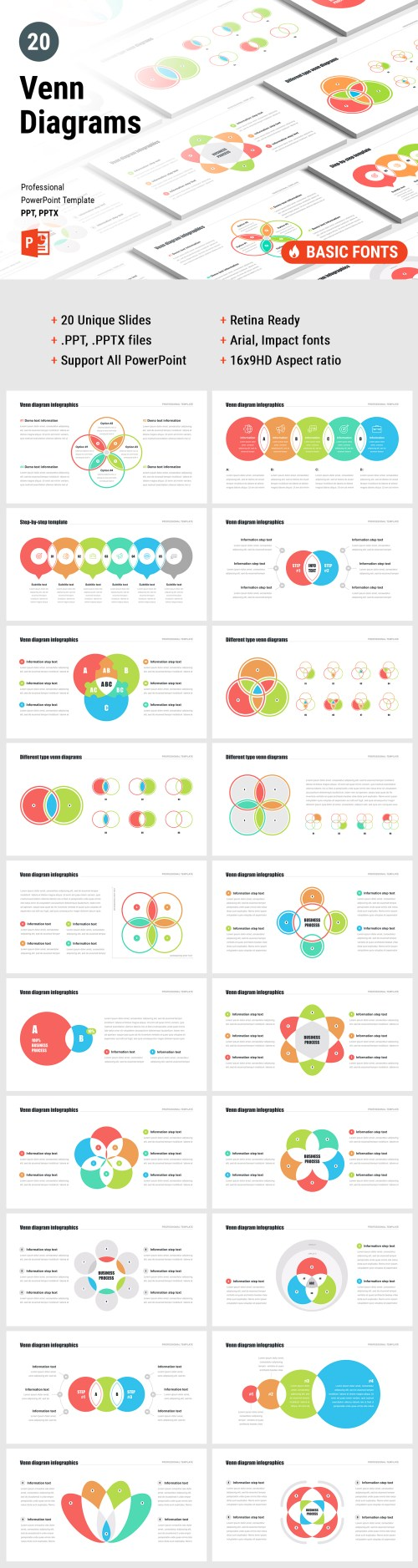 small resolution of venn diagram powerpoint template pack