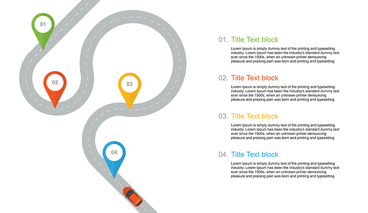 Free PowerPoint roadmap template .PPT - Free Download Now!