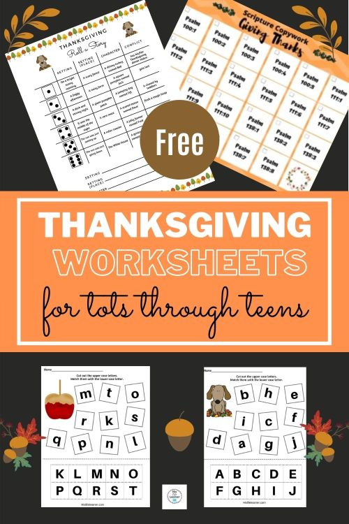 small resolution of Thanksgiving Worksheets for Tots through Teens - HisLifeLearner.com