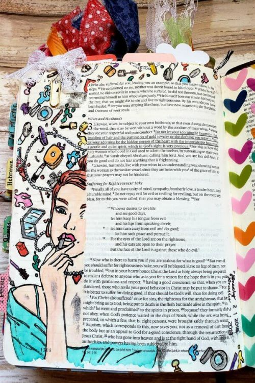 Be encouraged by one of the most important Bible journaling tips on accepting mistakes. #hispalette #biblejournalingtips #biblejournaling #creative #ideas #encouragement #illustratedfaith