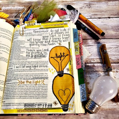 """My friend showed me how to be the light on October 31st of all days. Just maybe you'll want to """"Be the light!"""" this year as well. #hispalette #biblejournaling #halloween #christianhalloween #lightparty #livingourpriorities #october31 #historyofhalloween #christianhistory #ideas #activities #printables #party"""
