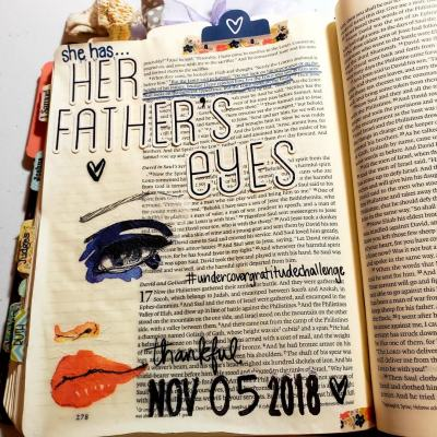 Anybody ready to spend an entire month being grateful and showing appreciation? Check out our Undercover Gratitude Challenge NOW! #hispalette #gratitudejournalideas #biblejournaling #illustratedfaith #undercovergratitude #undercovergratitudechallenge #gratitudechallenge #inspiration #begrateful #howtostarta #creative #mixedmedia #tips #God #aprayer #life #bibleart #thankful #november
