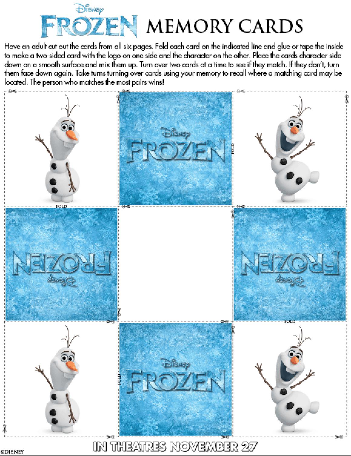 Actividades Gratis De La Pelicula Frozen De Disney